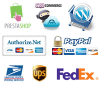 Frisky Dog Design E-Commerce Web Development - PrestaShop, Woo Commerce, WordPress, Authorize.net, PayPal Secure, USPS, UPS, FedEx